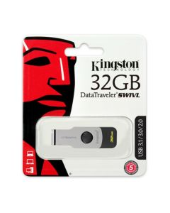 Флешка Kingston 32Gb DataTraveler Swivel Design Metal Black USB 3.0