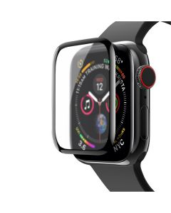 Защитное стекло Matte for Apple Watch Series 4 40 mm 3D Black (тех.пак)