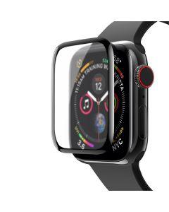 Защитное стекло Matte for Apple Watch Series 5 44 mm 3D Black (тех.пак)