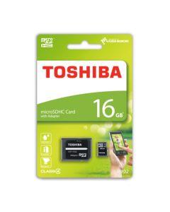 Карта памяти Toshiba 16GB M102 MicroSDHC Class 4 + SD Adapter