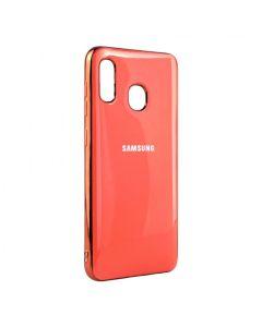 Чехол накладка Molan Soft Glass для Samsung A40-2019/A405 Coral