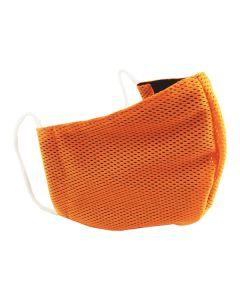 Многоразовая защитная маска для лица Sport оранжевая (размер S)