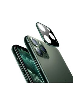 Защитное стекло на заднюю камеру iPhone 11 Pro/11 Pro Max Metal Glass 3D Midnight Green