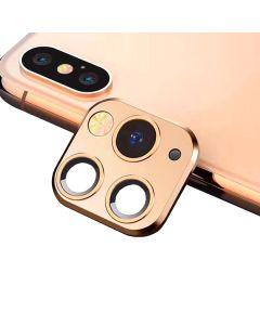 Защитное стекло на заднюю камеру iPhone X/XS/XS Max 3D Gold (муляж iPhone 11 Pro)
