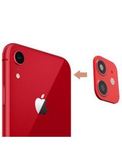 Защитное стекло на заднюю камеру iPhone XR 3D Red (муляж iPhone 11)