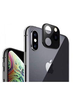 Защитное стекло на заднюю камеру iPhone X/XS/XS Max 3D Black (муляж iPhone 11 Pro)