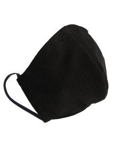 Многоразовая защитная маска для лица черная (размер S)
