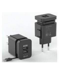 СЗУ Nomi HC05213 2USB 2.1A + Micro USB Cable Black