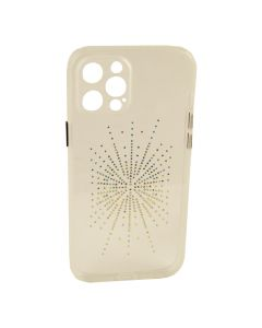 Silicon Diamond Younicou Case iPhone 12 Pro Silver Shine
