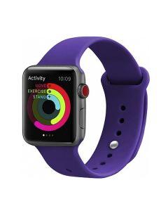 Ремешок для Apple Watch 42mm/44mm Silicone Watch Band Deep Purple