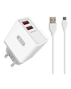 СЗУ XO L31 2USB 2A + Micro USB Cable White