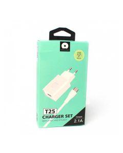 СЗУ WUW T25 1USB 2.4A + Micro USB White