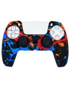 Силиконовый чехол для джойстика Sony PlayStation PS5 Type 8 Firework Black тех.пак
