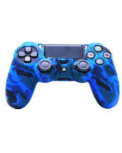 Силиконовый чехол для джойстика Sony PlayStation PS4 Type 1 Camouflage Blue тех.пак