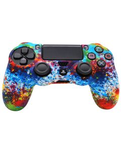 Силиконовый чехол для джойстика Sony PlayStation PS4 Type 1 Firework тех.пак