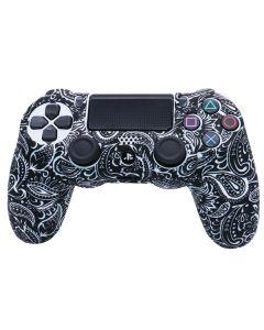 Силиконовый чехол для джойстика Sony PlayStation PS4 Type 1 Tattoo White тех.пак