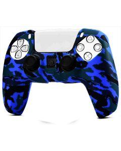Силиконовый чехол для джойстика Sony PlayStation PS5 Type 8 Camouflage Dark Blue тех.пак