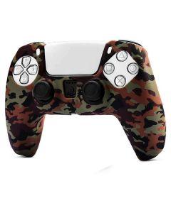 Силиконовый чехол для джойстика Sony PlayStation PS5 Type 8 Camouflage Green тех.пак