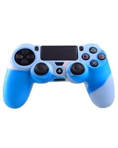 Силиконовый чехол для джойстика Sony PlayStation PS4 Type 2 Camouflage Blue/White тех.пак