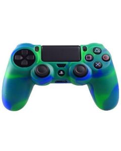 Силиконовый чехол для джойстика Sony PlayStation PS4 Type 2 Camouflage Green/Blue тех.пак