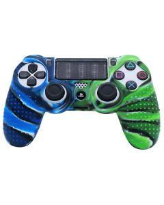 Силиконовый чехол для джойстика Sony PlayStation PS4 Type 3 Blue Camo/Green Camo тех.пак
