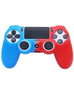 Силиконовый чехол для джойстика Sony PlayStation PS4 Type 3 Blue/Red тех.пак