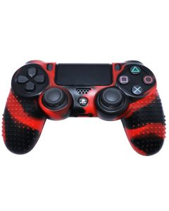 Силиконовый чехол для джойстика Sony PlayStation PS4 Type 4 Dark Red Camo тех.пак
