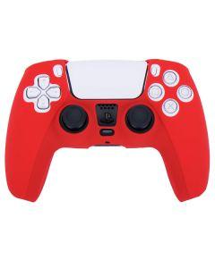Силиконовый чехол для джойстика Sony PlayStation PS5 Type 3 Dobe Red