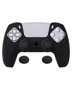 Силиконовый чехол для джойстика Sony PlayStation PS5 Type 6 Black + накладки на аналоговые стики