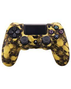 Силиконовый чехол для джойстика Sony PlayStation PS4 Type 8 Yellow Skulls тех.пак