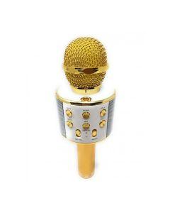 Портативная Bluetooth колонка-микрофон WS-858 Gold