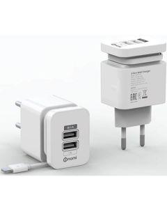 СЗУ Nomi HC05213 2USB 2.1A + Micro USB Cable White
