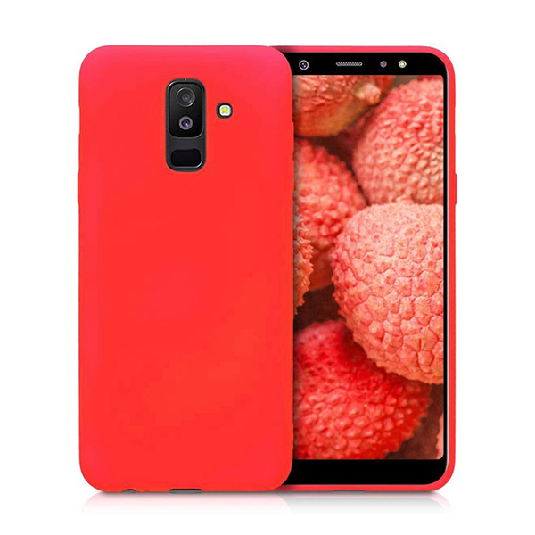 Чехол Original Soft Touch Case for Samsung A6 Plus 2018/A605 Bright Pink